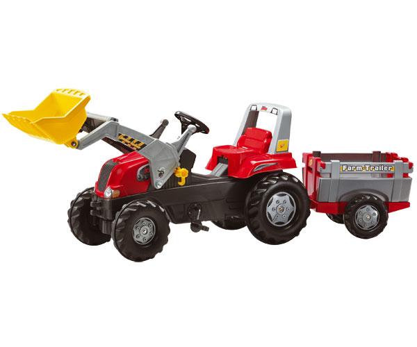 Tractor de pedales ROLLY Junior RT con pala y remolque
