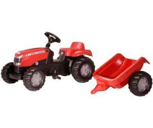 Tractor de pedales MASSEY FERGUSON con remolque