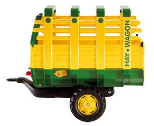 Remolque basculante Hay Wagon un eje amarillo
