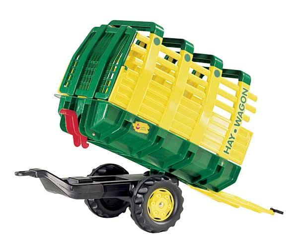 Remolque basculante Hay Wagon un eje amarillo - Ítem2