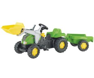 tractor de pedales rolly kid con pala y remolque