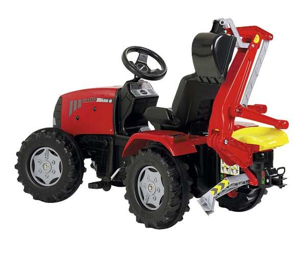 Retrocargadora roja para tractores de pedales - Ítem2