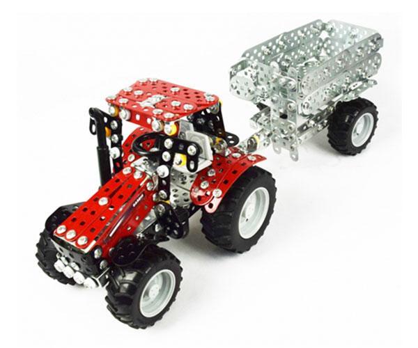 TRONICO 1:32 Kit montaje tractor CASE IH Puma 230 CVX con remolque