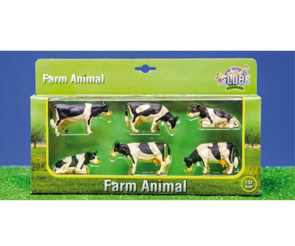Pack de 6 vacas Kids globe farming 57009