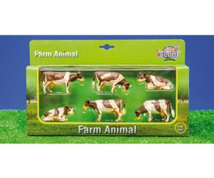 Pack de 6 vacas kids globe farming 57010