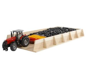 KIDS GLOBE FARMING 1:32 Silo horizontal para miniaturas a escala 1:32