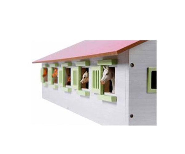 KIDS GLOBE FARMING 1:32 Establo de caballos con 9 cuadras - Ítem3