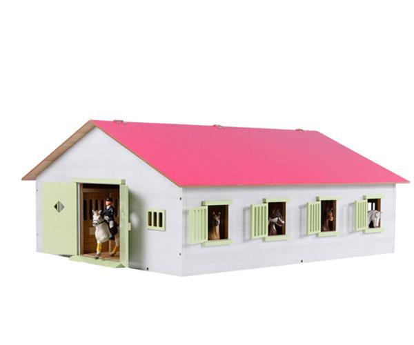 KIDS GLOBE FARMING 1:24 Establo de caballos con 7 cuadras 610189