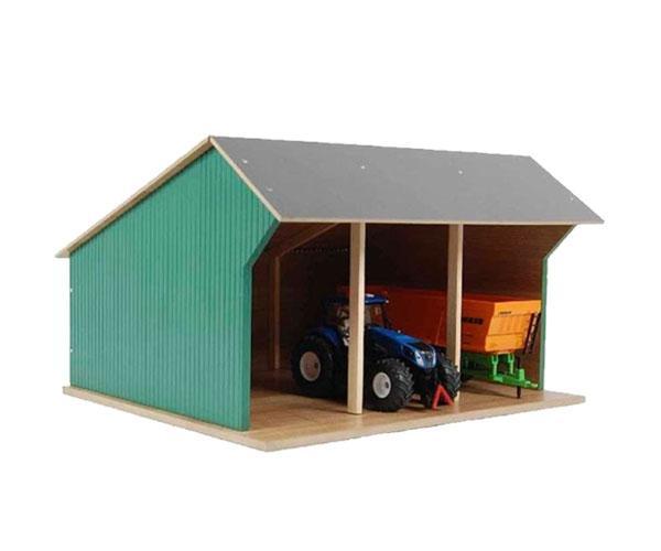 KIDS GLOBE FARMING 1:32 Almacén para tractores escala 1:32 610192