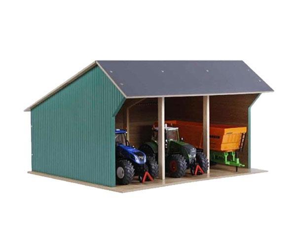 KIDS GLOBE FARMING 1:32 Almacén para tractores escala 1:32 610193