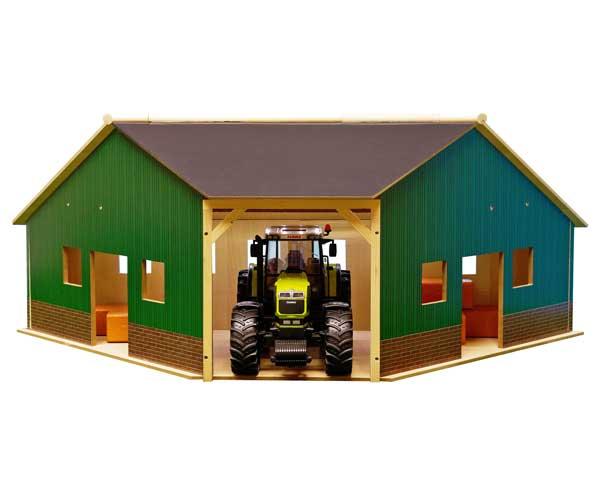 Almacén esquina para tractores de juguete escala 1:16