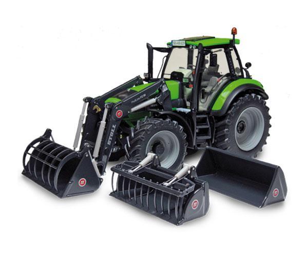 Réplica tractor DEUTZ-FAHR Agrotron 6190 con pala Weise Toys 1045