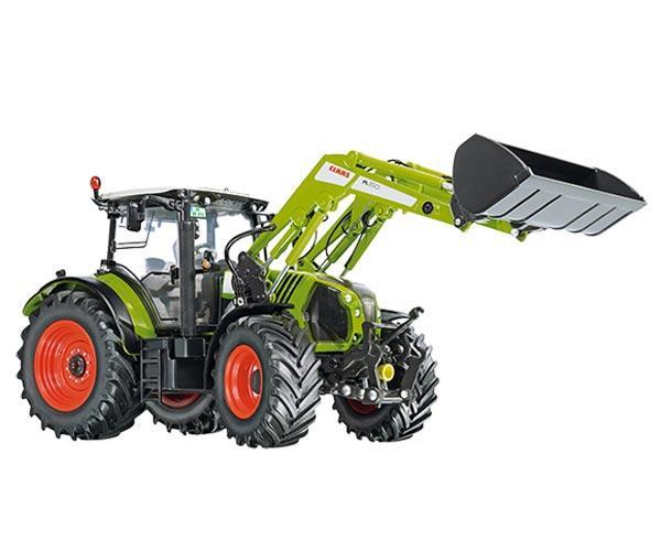 Replica tractor CLAAS Arion 650 con pala