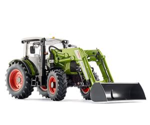 Réplica tractor CLAAS 430 con pala120 Wiking 77829