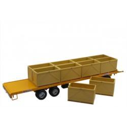REPLICAGRI 1:32 Plataforma Amarilla Especial MAUPU transporte de palots