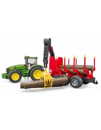 BRUDER 1:16 tractor john deere 7930 con remolque forestal - Ítem2