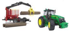 BRUDER 1:16 tractor john deere 7930 con remolque forestal - Ítem3