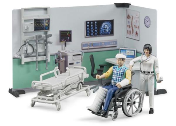 BRUDER 1:16 muñeco asistencia medica con accesorios
