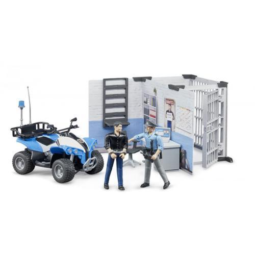 BRUDER 1:16 muñeco dependencias policiales y accesorios