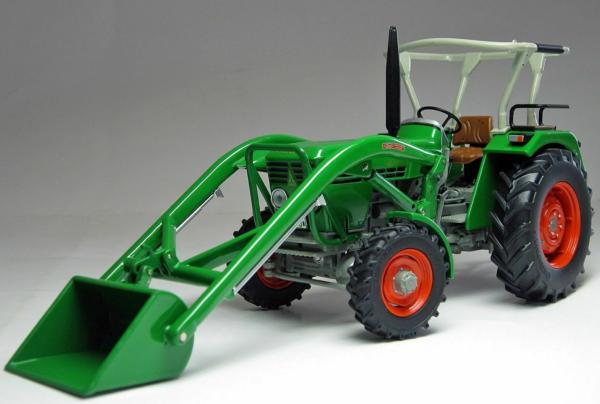 WEISE TOYS 1:32 Tractor DEUTZ D 45 06 A CON PALA FRONTAL