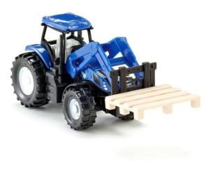 SIKU 1:87 Tractor NEW HOLLAND CON PALA FRONTAL Y PALLET