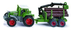 SIKU 1:87 Tractor FENDT FAVORIT 926 CON REMOLQUE FORESTAL