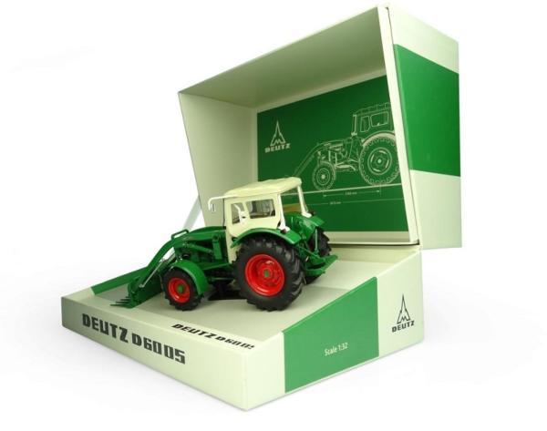 UNIVERSAL HOBBIES 1:32 SET Tractor DEUTZ D6005 CON PALA Y CABINA 4WD - Ítem1