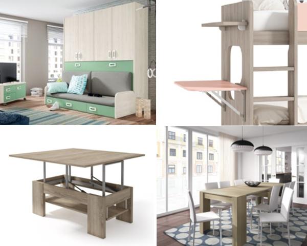 Muebles que solucionan problemas de espacio