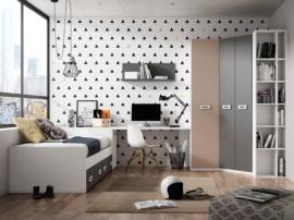 Habitación juvenil Basic con cama y arcón
