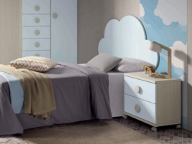 Cabecero de cama juvenil Nube