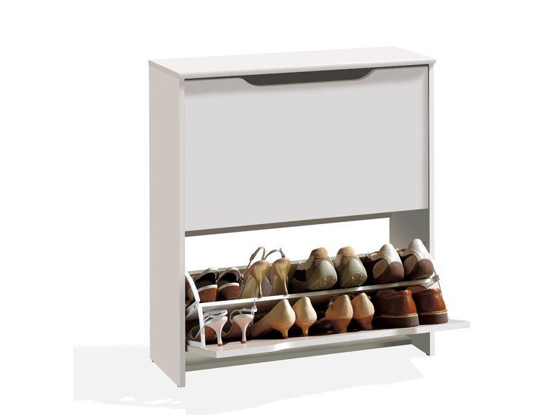 Mueble zapatero apilable de dos puertas en varios colores for Mueble zapatero gris
