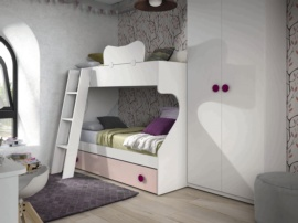 Litera juvenil para 3 camas