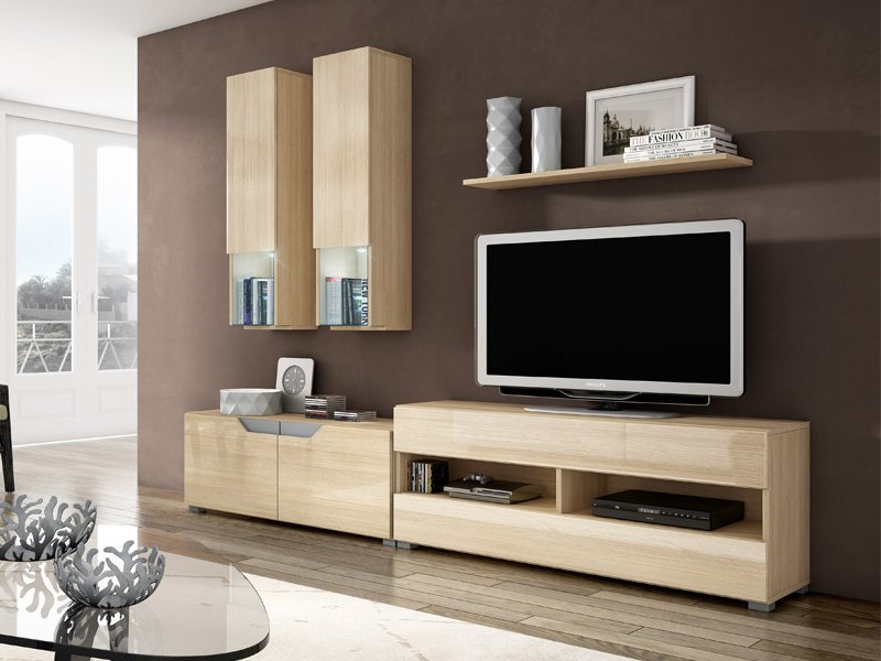 roble salon, mueble salon roble, comprar salon apilable roble, comprar