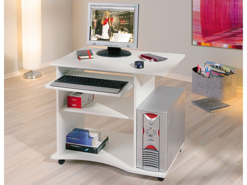 Mesa de ordenador con ruedas de dise o para oficina for Mesa tv con ruedas ikea