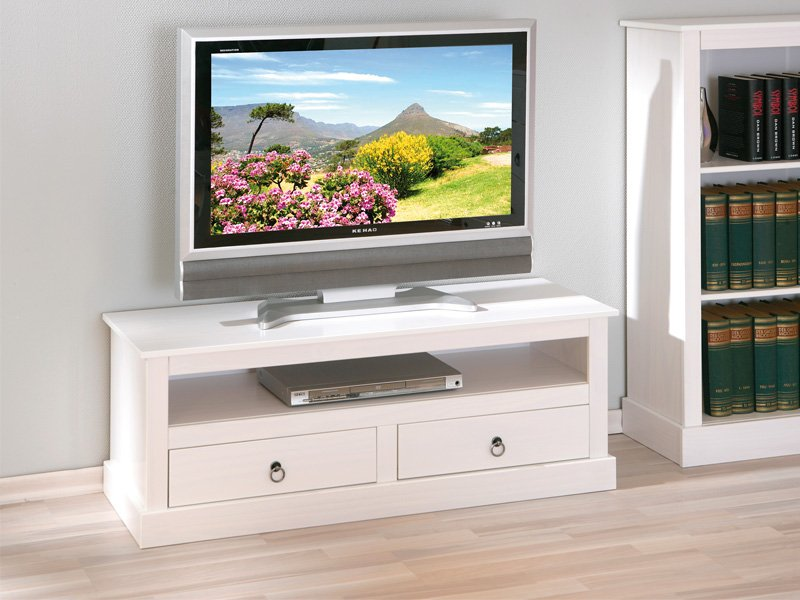 Mueble de m dulo tv con hueco estilo rom ntico en color blanco for Mueble para tv blanco