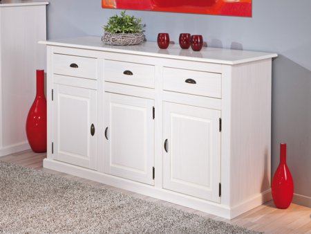 Aparador de estilo rom ntico mueble en melamina de color for Muebles madera maciza outlet