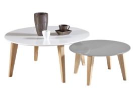 Set de 2 mesas de centro circulares