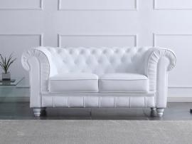 Sofá chester 2 plazas en blanco o negro