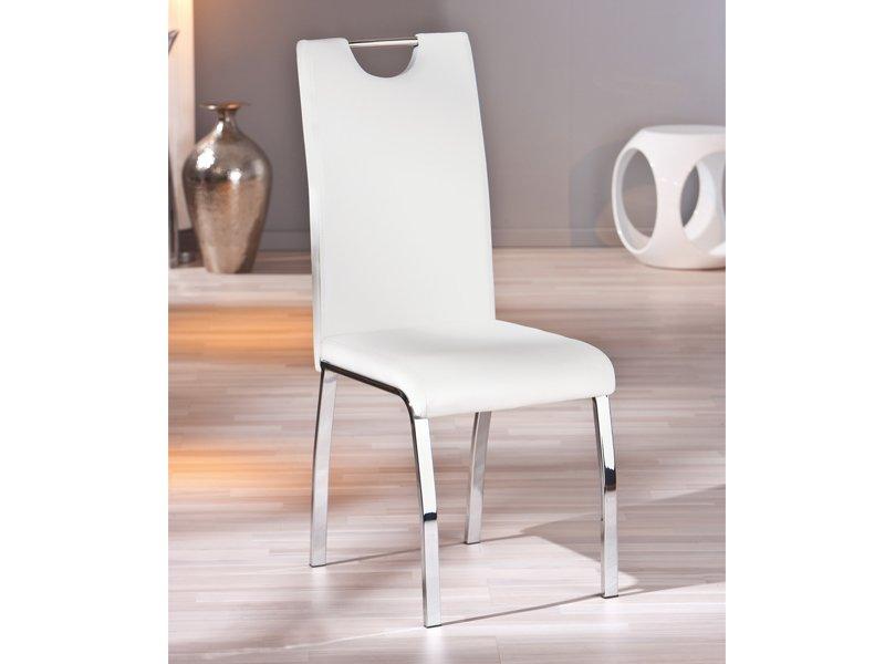 Silla de dise o vanguardista silla blanca tapizada para sal n for Sillas de comedor blancas modernas