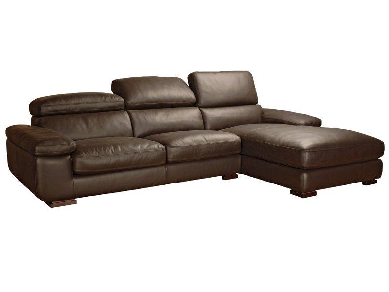 Sof chaise longue dise o sof piel ergon mico cabezales abatibles - Sofa piel chaise longue ...