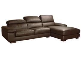 Sofá chaise-longue de cabezales abatibles