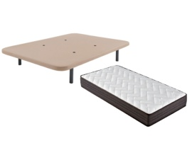Pack colchón y base tapizada