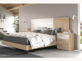 Dormitorio moderno con mesita 3 cajones