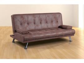 Sofá cama de patas metálicas