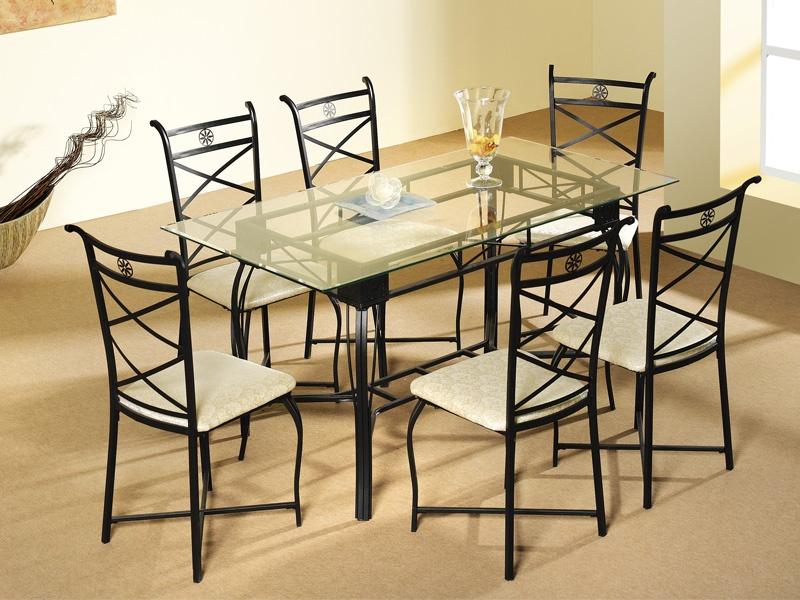 conjunto de mesa de saln y sillas forja