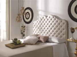 Cabezal de cama tapizado en polipiel