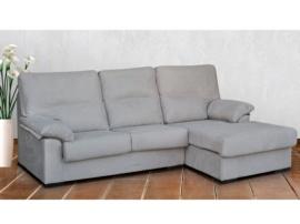 Sofá chaise-longue tapizado en chenillas