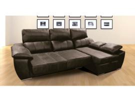 Sofá con chaisselongue con arcon, y asientos extraibles y reclinables