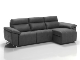 Sofá chaise longue con relax eléctricos