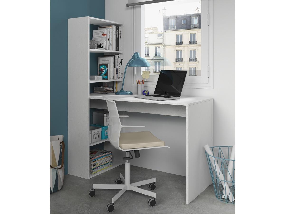 Mesa de ordenador con estanteria lateral for Mesas para ordenador ikea